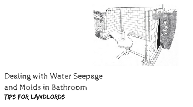 how to deal with water seepage in bathrooms