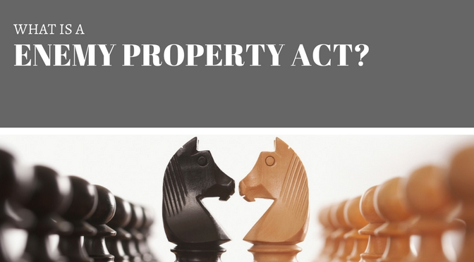 what is a enemy property act